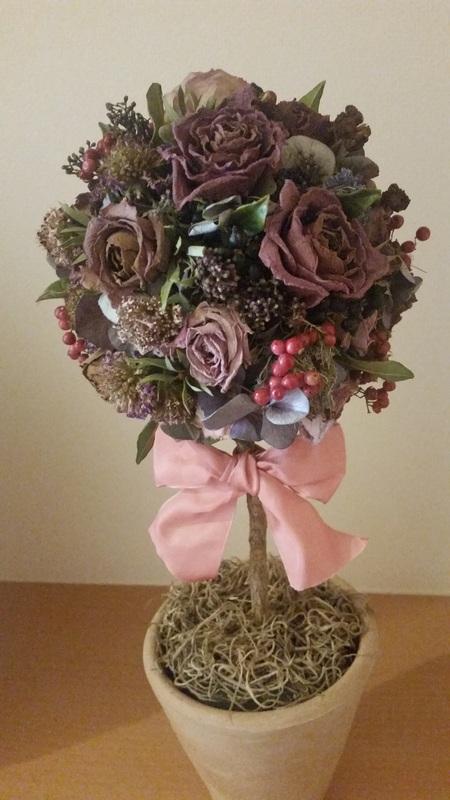 結婚式後のブーケの保存 お母様手作りのバラのドライフラワー ASOの花嫁様より_a0042928_1325756.jpg