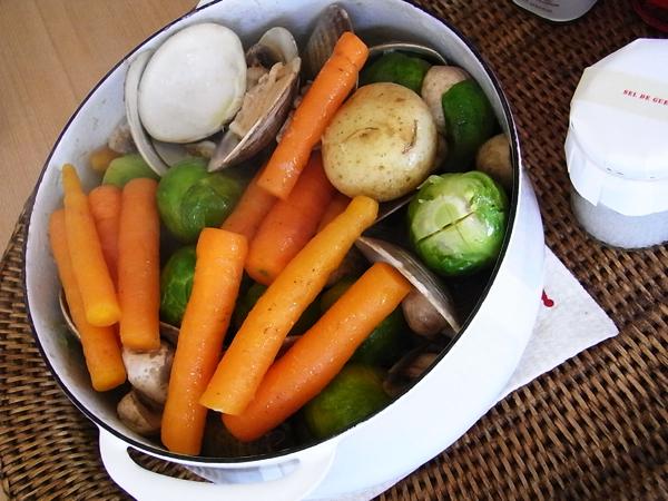 はまぐりのエチュベ -好きな野菜の蒸し煮-_b0150295_12550776.jpg