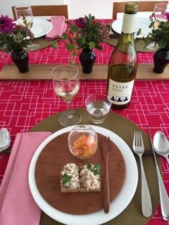 2016年2月料理教室 スモーブロ・ ごぼう餅・鱈のグラタン・ボネ_e0134337_20101592.jpg