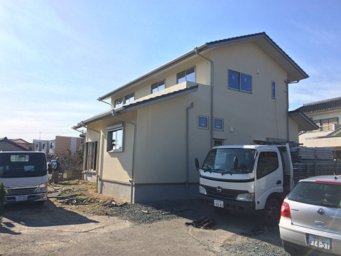 浜北小松 Yさんの家 ★大工工事、足場工事_d0205883_1894579.jpg
