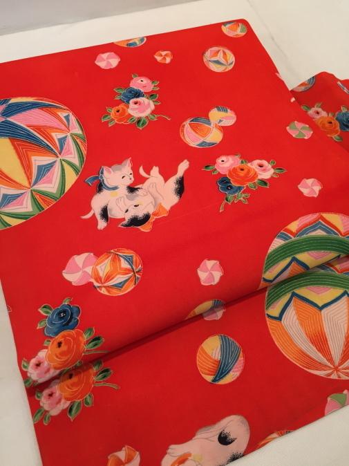 可愛い♪オリジナル猫帯入荷です!横浜上大岡「今昔きもの市」販売商品27_c0321302_22020964.jpg