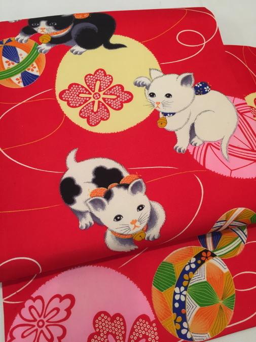 可愛い♪オリジナル猫帯入荷です!横浜上大岡「今昔きもの市」販売商品27_c0321302_22042869.jpg