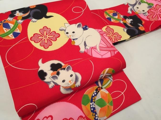 可愛い♪オリジナル猫帯入荷です!横浜上大岡「今昔きもの市」販売商品27_c0321302_22043888.jpg