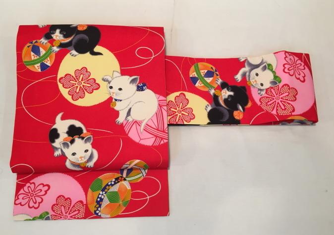 可愛い♪オリジナル猫帯入荷です!横浜上大岡「今昔きもの市」販売商品27_c0321302_22045054.jpg
