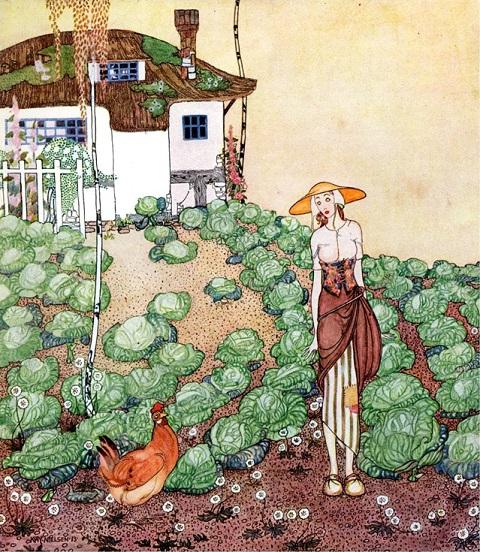 カイ・ニールセン画「フェリシア-または撫子の鉢」_c0084183_1191139.jpg