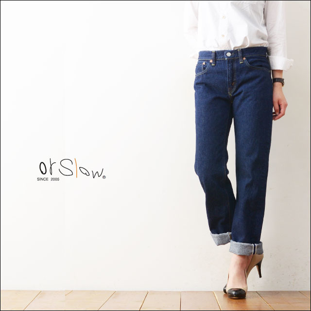 orslow [オアスロウ] STANDARD 5POCKET DENIM ONE WASH [00-1050-81] LADY\'S_f0051306_19415611.jpg