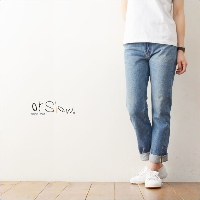 orslow [オアスロウ] IVY FIT DENIM 107 3YEAR WASH [00-0107-98]  LADY\'S_f0051306_19443935.jpg