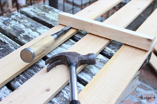 DIY押入れ改造3:ひと手間加えたスノコで使い勝手のいい収納棚♪_f0023333_10450717.jpg