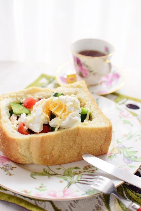 ふわふわパンにいっぱいの野菜たち_f0318142_159504.jpg