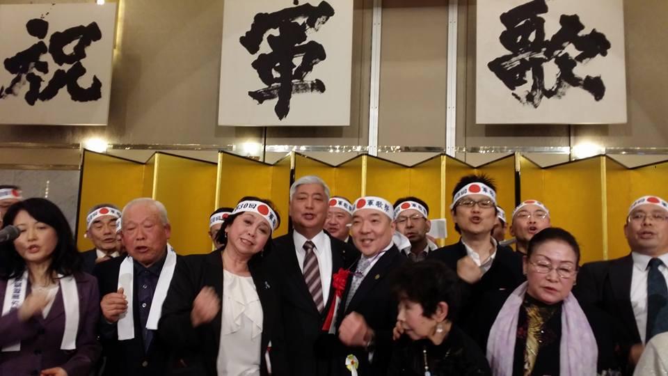 合宿後、「第30回軍歌祭」に、中谷防衛大臣、小牧相談役「銀座からく」の大将と出席!_c0186691_11471742.jpg