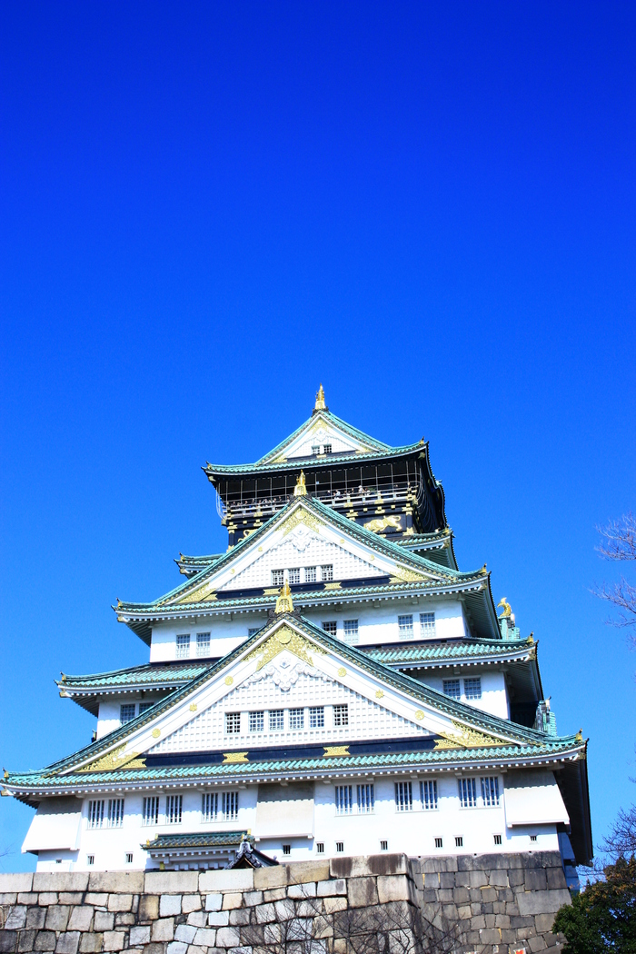 青い空 大阪城天守閣_f0209122_19292914.jpg