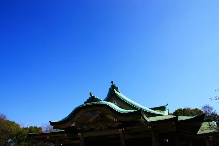 青い空 大阪城天守閣_f0209122_19365160.jpg