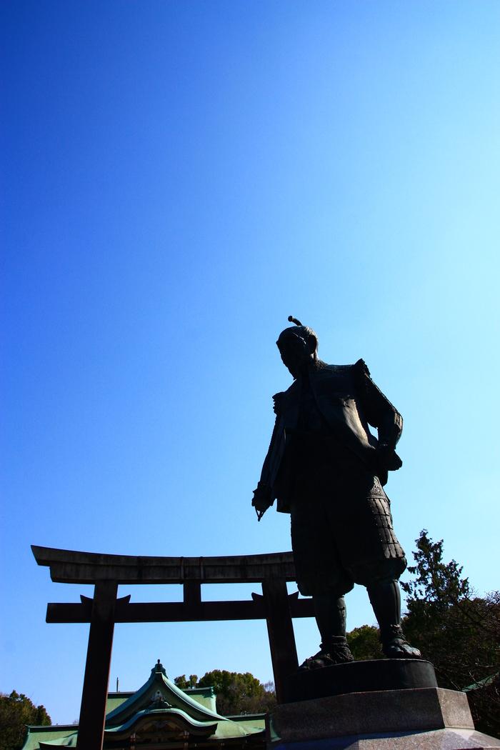 青い空 大阪城天守閣_f0209122_19381193.jpg