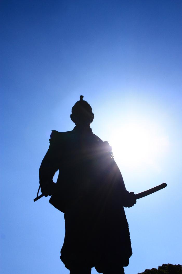 青い空 大阪城天守閣_f0209122_19382631.jpg