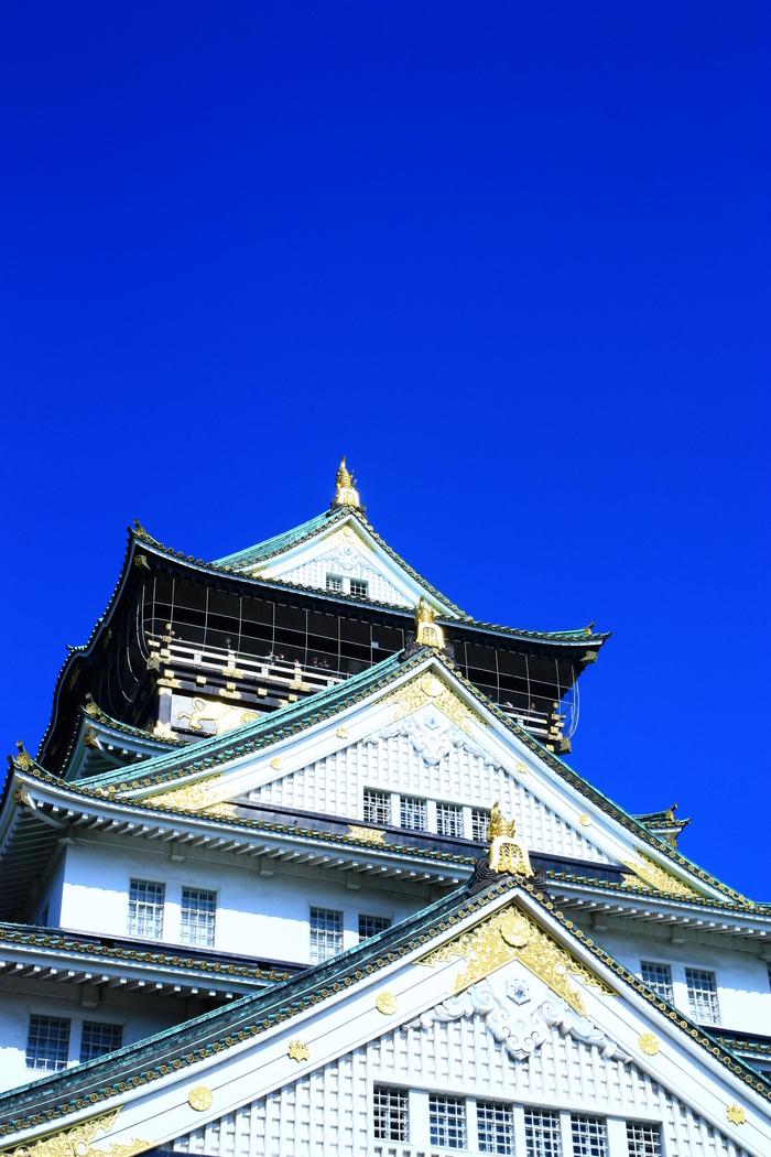 青い空 大阪城天守閣_f0209122_1939759.jpg