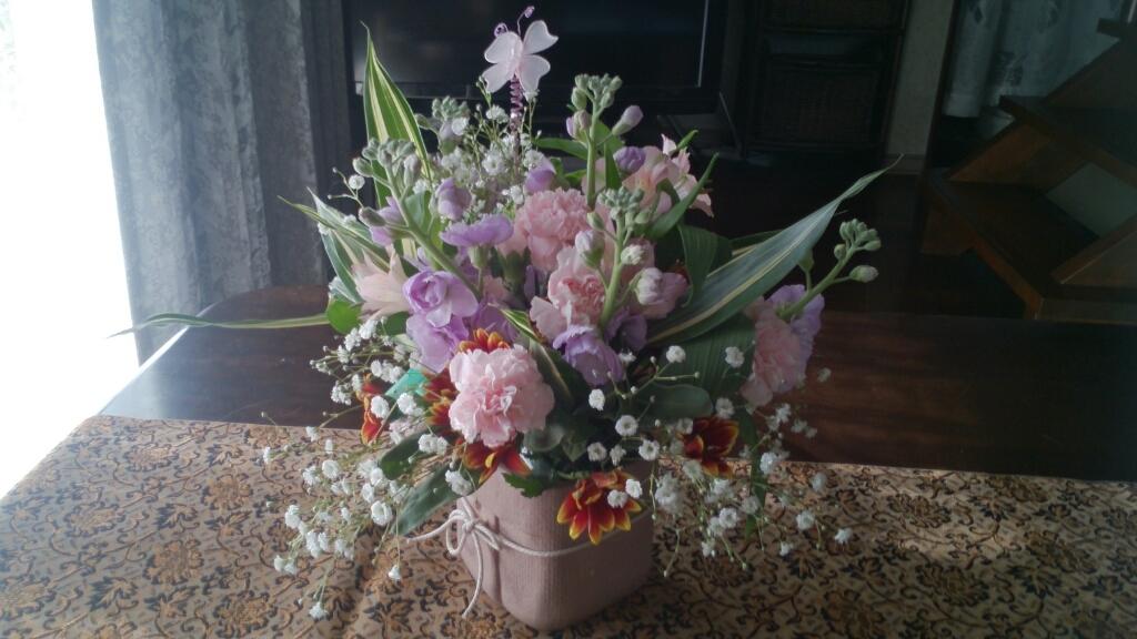今月のフローラは生花_d0116059_12004162.jpg