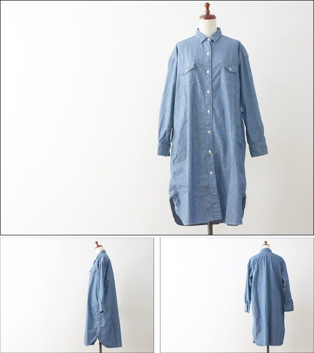 orslow [オアスロウ] LONG WORK SHIRTS CHAMBRAY [00-9510-84] LADY\'S_f0051306_20421525.jpg