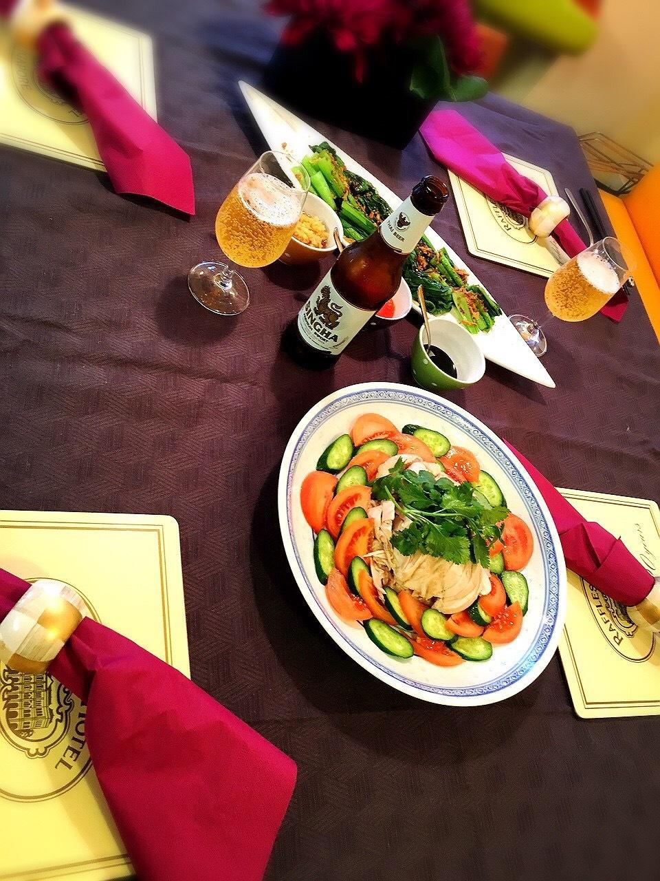 料理教室・・・シンガポール料理「海南チキンライスなど」_f0141419_09234189.jpg