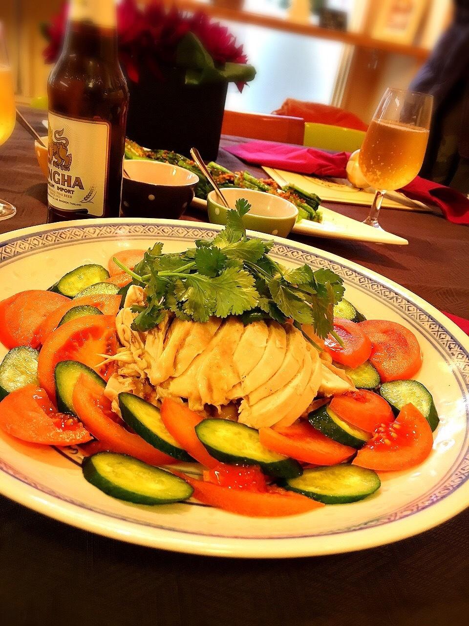 料理教室・・・シンガポール料理「海南チキンライスなど」_f0141419_09234486.jpg