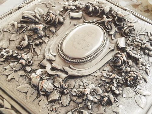 仏アンティ-クシルバープレート宝石函_e0197639_1814725.jpg