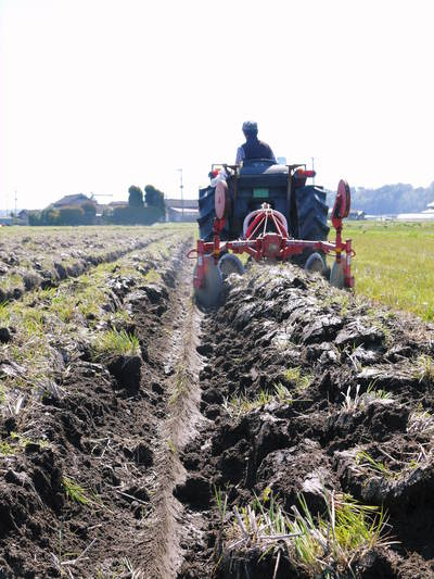 七城米 長尾農園 平成28年度のお米作りがスタートです!まずは満遍なく堆肥をまきます!!_a0254656_18423559.jpg