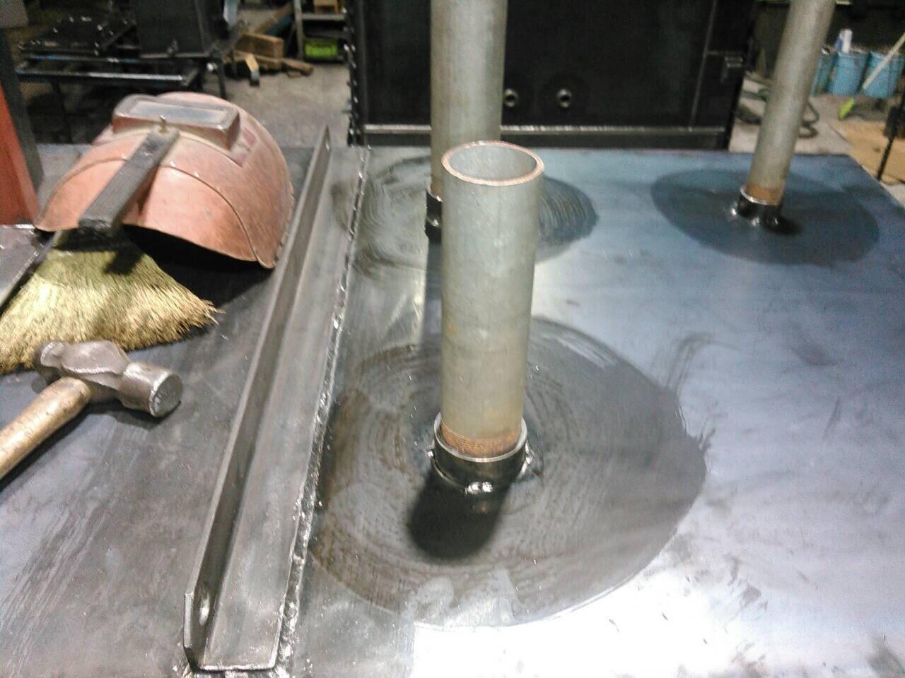 油タンク製作 フランジ・ソケット溶接_f0228240_21360872.jpg