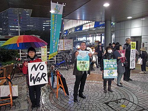 新宿西口反戦意思表示_a0188487_14512917.jpg