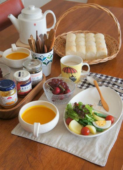 朝食はリクエストパンを焼き立てで♪_b0351606_12225893.jpg