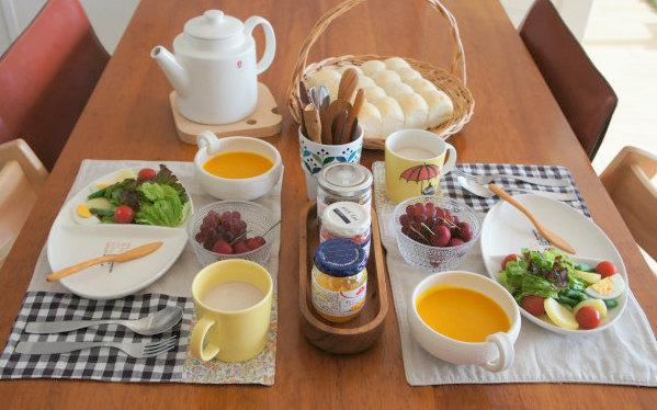 朝食はリクエストパンを焼き立てで♪_b0351606_12225905.jpg