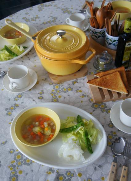野菜中心の朝ごはん_b0351606_12292536.jpg