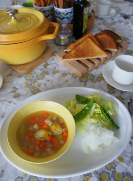 野菜中心の朝ごはん_b0351606_12292566.jpg
