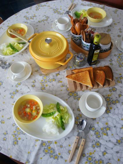 野菜中心の朝ごはん_b0351606_12292686.jpg