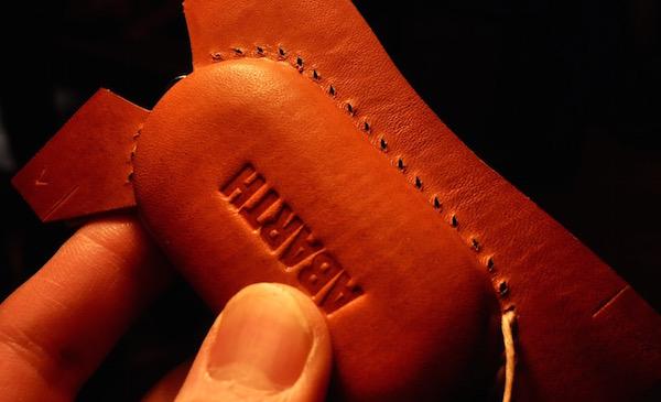 abarth leather key cover_b0172633_22564560.jpg