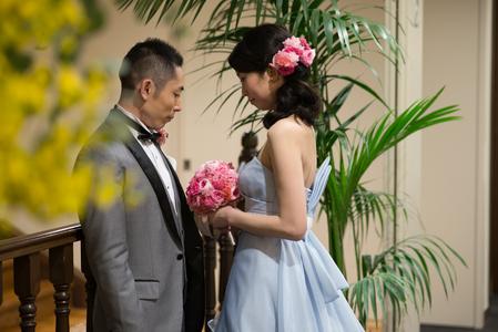 新郎新婦様からのメール ザ・ロイヤルダイナスティの花嫁様から ピンクのブーケ、プリザーブドで_a0042928_21595567.jpg