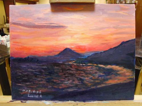 クレヨン画 ~ 稲村ヶ崎からの風景 ~ _e0222340_1641297.jpg