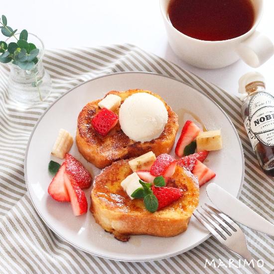 朝からおいしいスイーツ!フルーツたっぷりで気分が上がるフレンチトースト!【レシピ付き】