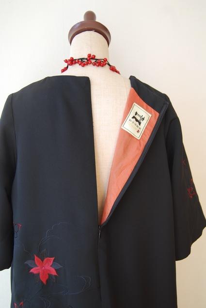 着物リメイク・羽織からAラインのワンピース_d0127925_1945243.jpg