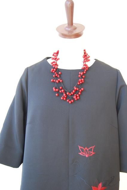 着物リメイク・羽織からAラインのワンピース_d0127925_1952513.jpg