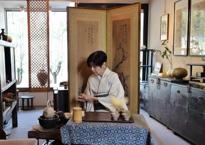 高木剛展 焙じ茶席のようす_a0279848_15391891.jpg