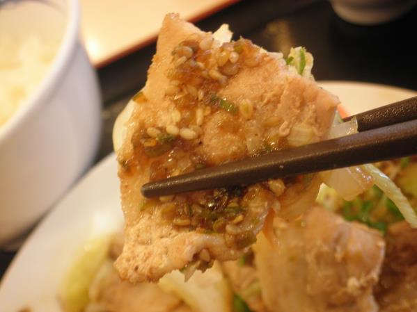 松屋の豚肉とたっぷり冬野菜炒め    箕面店_c0118393_1032505.jpg