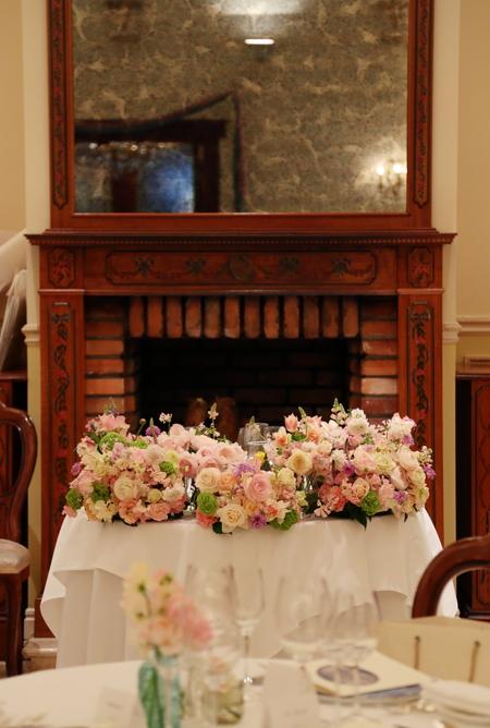 春の装花 リストランテASO様へ 春の花でおまかせで_a0042928_19392594.jpg
