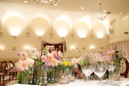 春の装花 リストランテASO様へ 春の花でおまかせで_a0042928_194142.jpg