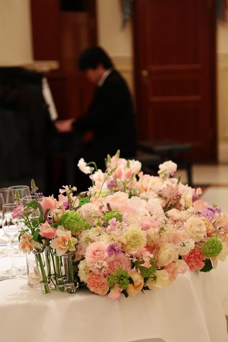 春の装花 リストランテASO様へ 春の花でおまかせで_a0042928_19433549.jpg