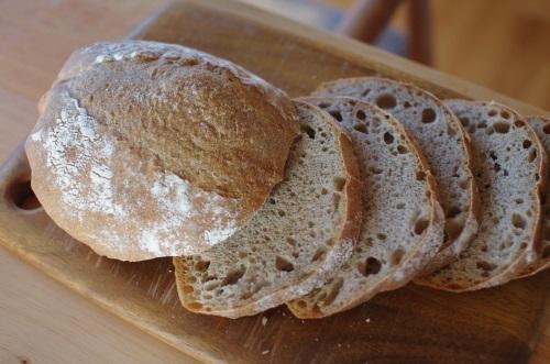 いただきもの小麦でカンパーニュ_c0110869_1647108.jpg