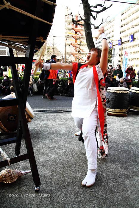 東京マラソン2016・・・和太鼓応援演奏_c0181958_1143308.jpg
