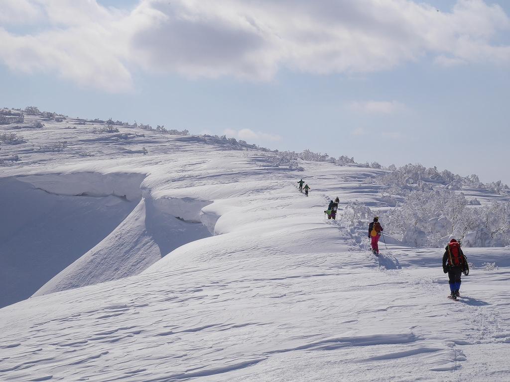 オコタンペ山、漁岳、小漁山からオコタンペ湖、2月28日-下山編-_f0138096_2253509.jpg