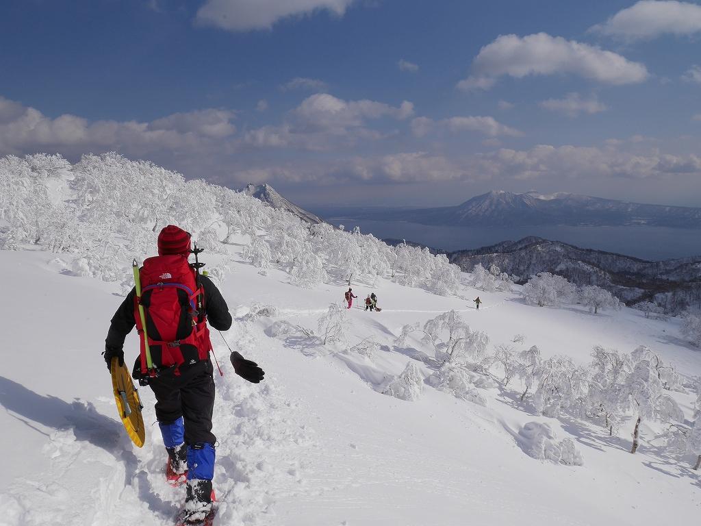 オコタンペ山、漁岳、小漁山からオコタンペ湖、2月28日-下山編-_f0138096_22541943.jpg