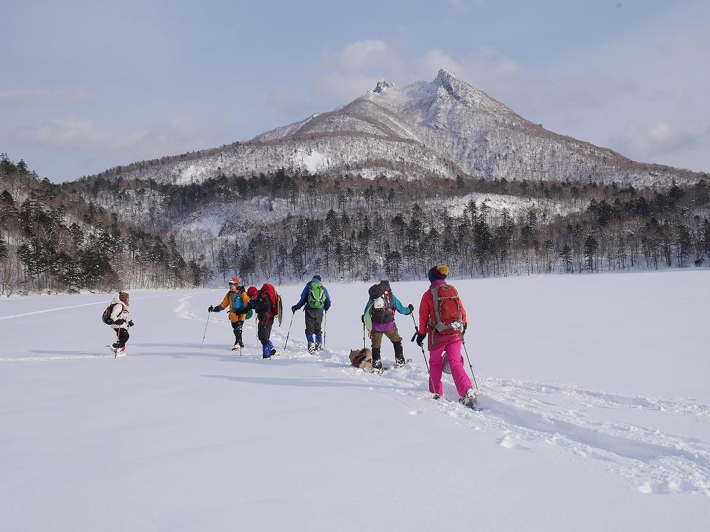 オコタンペ山、漁岳、小漁山からオコタンペ湖、2月28日-下山編-_f0138096_22545716.jpg