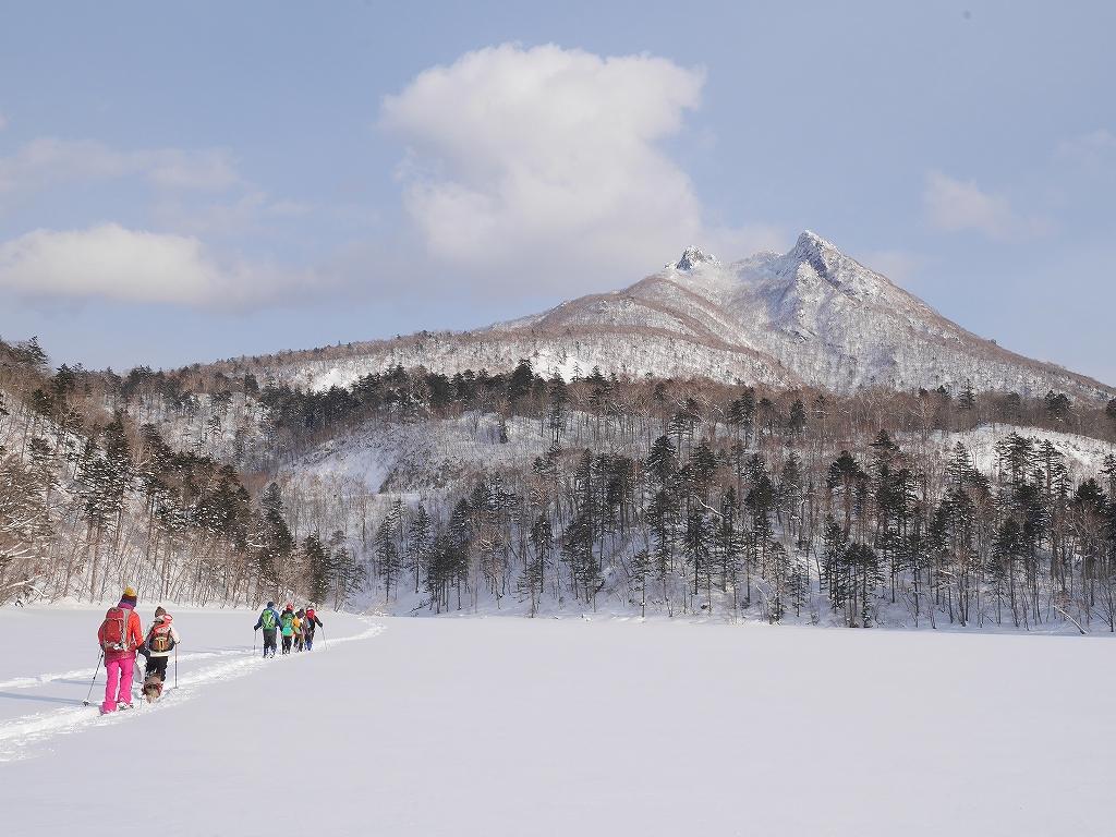オコタンペ山、漁岳、小漁山からオコタンペ湖、2月28日-下山編-_f0138096_2255523.jpg