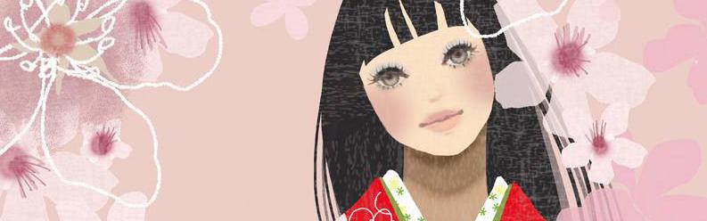ヒナコタビダチ。赤いきもの kimono illustration_f0172313_15252943.jpg